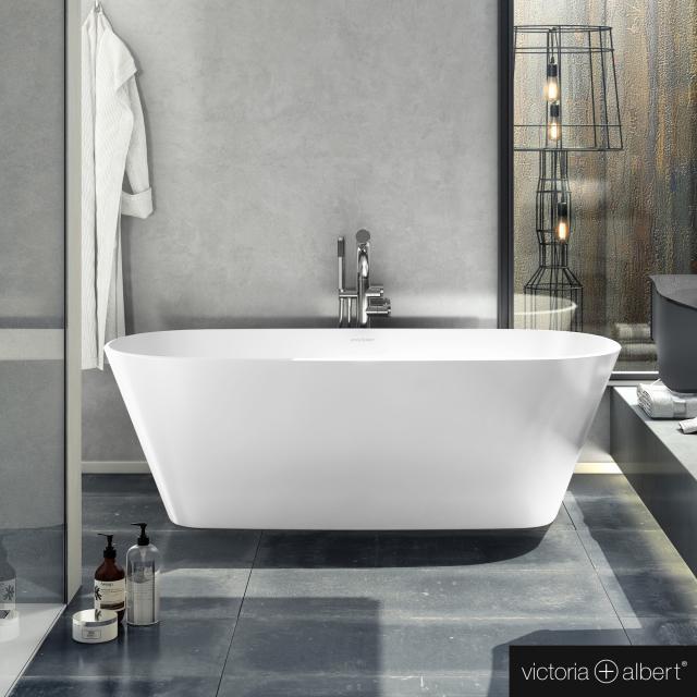 Victoria + Albert Vetralla 1650 Freistehende Oval-Badewanne weiß glanz/innen weiß glanz