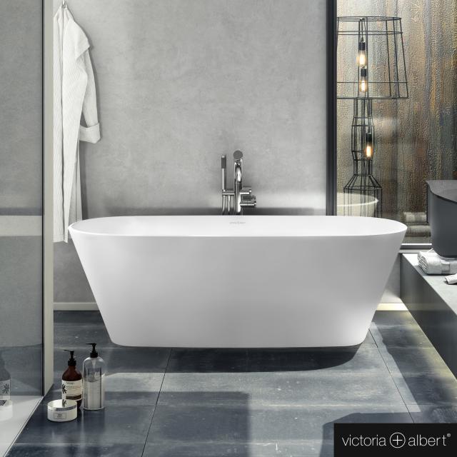 Victoria + Albert Vetralla 1650 Freistehende Oval-Badewanne weiß matt/innen weiß matt
