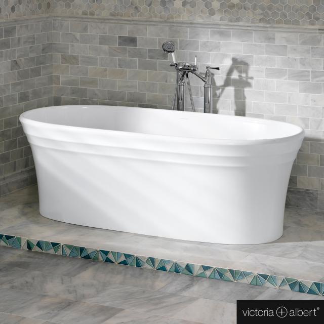 Victoria + Albert Warndon Freistehende Oval-Badewanne weiß glanz/innen weiß glanz
