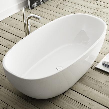 Freistehende badewanne maße  Victoria + Albert Barcelona freistehende Badewanne weiß - BAR-N-SW ...