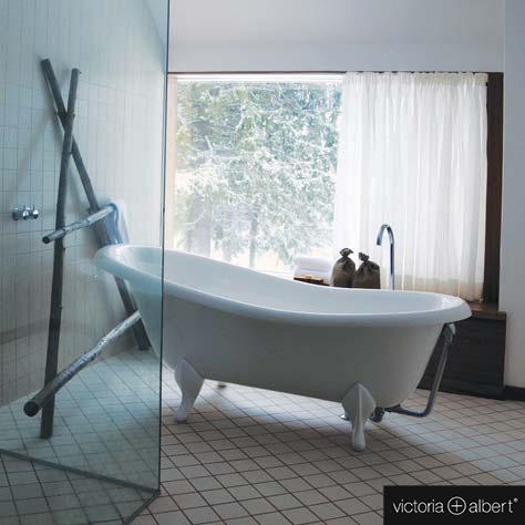 victoria albert roxburgh freistehende badewanne wei mit wei en quarrycast f en rox n sw. Black Bedroom Furniture Sets. Home Design Ideas