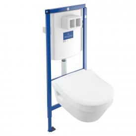 Villeroy & Boch Architectura Komplett-Set Wand-Tiefspül-WC, offener Spülrand, DirectFlush weiß