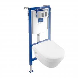 Villeroy & Boch Architectura & ViConnect NEU Komplett-Set Wand-Tiefspül-WC, offener Spülrand, mit WC-Sitz weiß, mit CeramicPlus und AntiBac