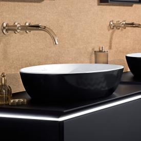 Villeroy & Boch Artis Aufsatzwaschtisch coal black/weiß