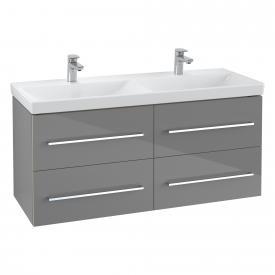 Villeroy & Boch Avento Doppel-Waschtischunterschrank mit 4 Auszügen crytal grey