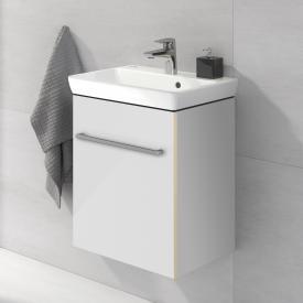 Villeroy & Boch Avento Handwaschbecken mit Waschtischunterschrank mit 1 Tür Front crystal white / Korpus crystal white