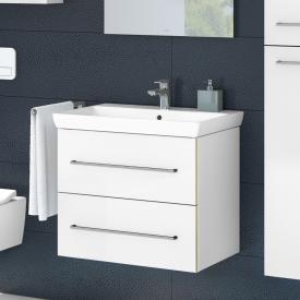 Villeroy & Boch Avento Waschtisch mit Waschtischunterschrank mit 2 Auszügen weiß, mit 1 Hahnloch, mit Überlauf