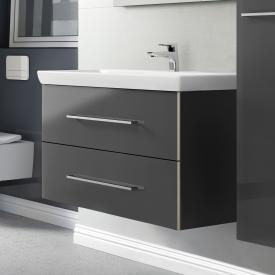 Villeroy & Boch Avento Waschtischunterschrank mit 2 Auszügen Front crystal grey / Korpus crystal grey