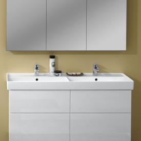 Villeroy & Boch Collaro Doppel-Möbelwaschtisch weiß mit CeramicPlus, mit 2 Hahnlöchern, mit Überlauf