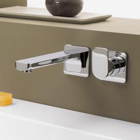 Villeroy & Boch Cult Waschtisch-Wand-Einhandbatterie mit Einzelrosetten Ausladung: 210 mm, chrom