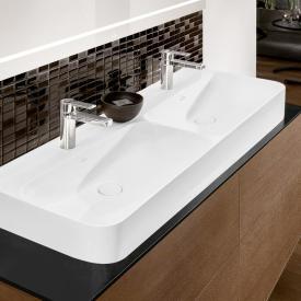 Villeroy & Boch Finion Doppelwaschtisch stone white, mit CeramicPlus, ungeschliffen, ohne Überlauf