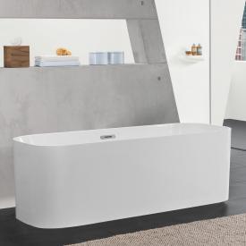 Villeroy & Boch Finion freistehende Badewanne weiß, chrom, mit integriertem Wassereinlauf