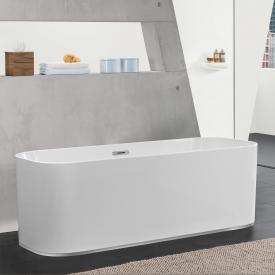 Villeroy & Boch Finion Freistehende Oval-Badewanne weiß, chrom, mit integriertem Wassereinlauf, mit Design-Ring