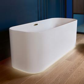 Villeroy & Boch Finion Freistehende Oval-Badewanne mit Emotion-Funktion stone white, champagner, mit integriertem Wassereinlauf