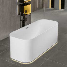 Villeroy & Boch Finion Freistehende Oval-Badewanne mit Emotion-Funktion weiß, chrom, mit Design-Ring