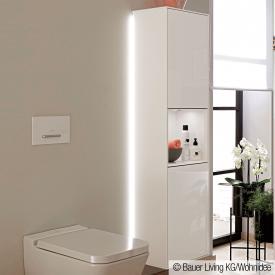 Villeroy & Boch Finion LED-Hochschrank mit 2 Türen, Regalelement mittig Front glossy white / Korpus glossy white