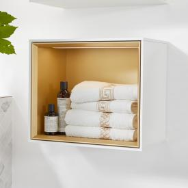 Villeroy & Boch Finion LED-Regalmodul glossy white/gold matt