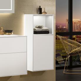 Villeroy & Boch Finion LED-Seitenschrank mit 1 Tür, Regalelement oben Front white matt / Korpus white matt