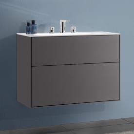 Villeroy & Boch Finion LED-Waschtischunterschrank mit 2 Auszügen Front anthracite matt / Korpus anthracite matt