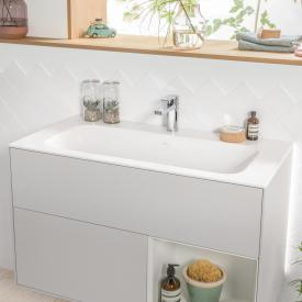 Villeroy & Boch Finion Schrankwaschtisch stone white mit CeramicPlus, mit 1 Hahnloch, mit verdecktem Überlauf