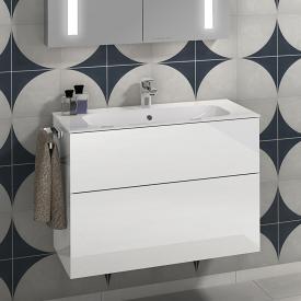 Villeroy & Boch Finion Schrankwaschtisch weiß mit CeramicPlus, mit 1 Hahnloch, mit Überlauf