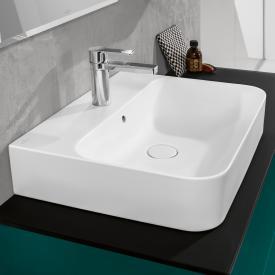Villeroy & Boch Finion Waschtisch stone white mit CeramicPlus, geschliffen, mit Überlauf