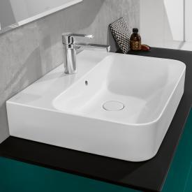 Villeroy & Boch Finion Waschtisch weiß mit CeramicPlus, geschliffen, mit Überlauf