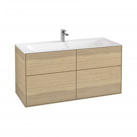 Villeroy & Boch Finion Waschtischunterschrank mit 4 Auszügen Front oak veneer / Korpus oak veneer