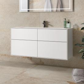 Villeroy & Boch Finion Waschtischunterschrank mit 4 Auszügen Front white matt / Korpus white matt
