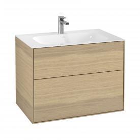 Villeroy & Boch Finion Waschtischunterschrank mit 2 Auszügen Front oak veneer / Korpus oak veneer