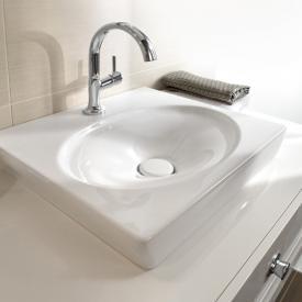 Villeroy & Boch La Belle Handwaschbecken für Montage mit Möbeln weiß mit CeramicPlus mit 1 Hahnloch ohne Überlauf