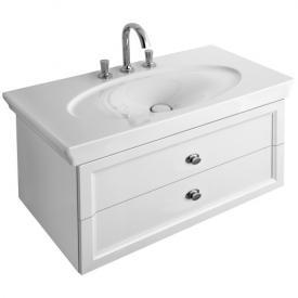 Villeroy & Boch La Belle Waschtischunterschrank mit 2 Auszügen Front weiß glanz / Korpus weiß glanz, Griff chrom
