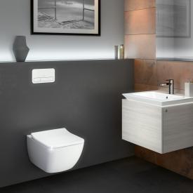 Villeroy & Boch Legato Combi-Pack Wand-Tiefspül-WC, offener Spülrand L: 56 B: 37,5 cm weiß mit CeramicPlus