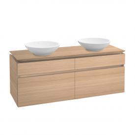Villeroy & Boch Legato Waschtischunterschrank für 2 Aufsatzwaschtische mit 4 Auszügen Front ulme impresso / Korpus ulme impresso