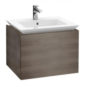 Villeroy & Boch Legato Waschtischunterschrank mit 1 Auszug Front eiche graphit / Korpus eiche graphit