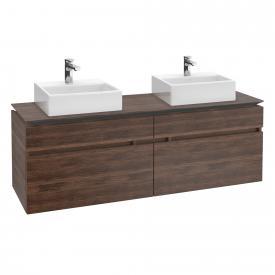 Villeroy & Boch Legato Waschtischunterschrank für 2 Aufsatzwaschtische mit 4 Auszügen Front arizona oak / Korpus arizona oak