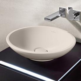 Villeroy & Boch Loop & Friends Aufsatzwaschtisch, rund pergamon mit CeramicPlus mit Überlauf