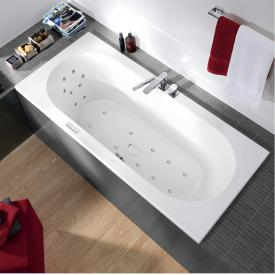 Villeroy & Boch Loop & Friends OVAL Duo Rechteck-Whirlwanne, Technikposition 1 weiß mit CombiPool Entry