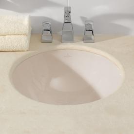 Villeroy & Boch Loop & Friends Unterbauwaschtisch, rund pergamon mit CeramicPlus mit Überlauf