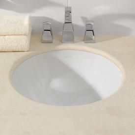 Villeroy & Boch Loop & Friends Unterbauwaschtisch, rund weiß mit CeramicPlus ohne Überlauf