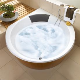 Villeroy & Boch Luxxus Eck Badewanne mit Whirlpoolsystem, Technikposition 2 weiß mit AirPool Comfort