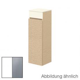 Villeroy & Boch Memento Seitenschrank mit 1 Tür Front weiß matt/soft grey / Korpus weiß matt, Glasplatte soft grey