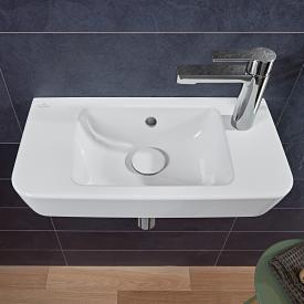 Villeroy & Boch O.novo Compact Handwaschbecken weiß, mit 1 Hahnloch rechts, mit Überlauf