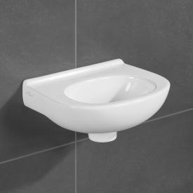 Villeroy & Boch O.novo Handwaschbecken weiß mit CeramicPlus, ohne Hahnloch, ohne Überlauf