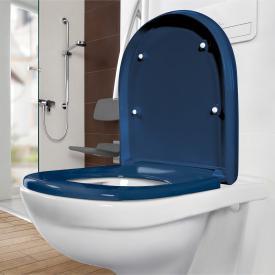 Villeroy & Boch O.novo Vita WC-Sitz blau mit AntiBac mit Quick Release und Absenkautomatik soft-close