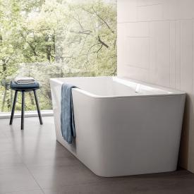 Villeroy & Boch Squaro Excellence Duo freistehende Badewanne starwhite mit integriertem Wassereinlauf