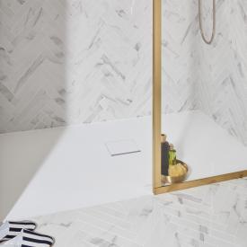 Villeroy & Boch Squaro Infinity Duschwanne für universal Einbau stone white