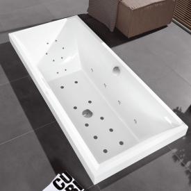 Villeroy & Boch Squaro Rechteck Badewanne mit Whirlpoolsystem, Technikposition 1 weiß, mit CombiPool Comfort