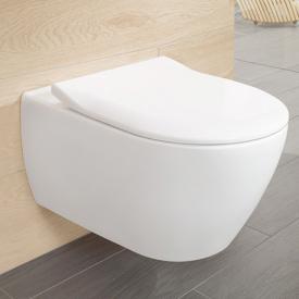 Villeroy & Boch Subway 2.0 Combi-Pack Wand-Tiefspül-WC, offener Spülrand weiß mit CeramicPlus mit Quick Release und Absenkautomatik soft-close