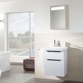 Villeroy & Boch Subway 2.0 Handwaschbecken mit Waschtischunterschrank und More to See 14 Spiegel